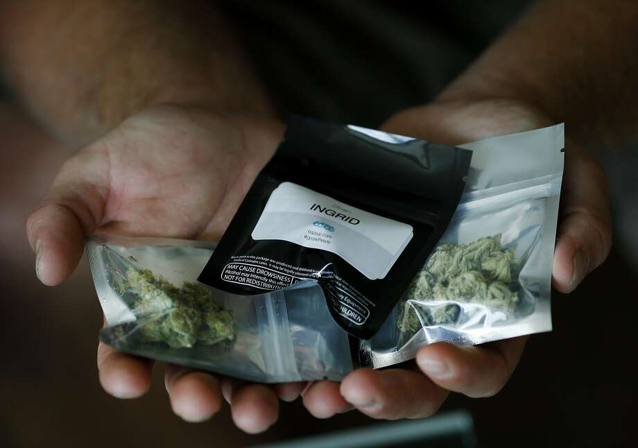 "Eaze delivery persons will arrive at the door with the medical marijuana in plastic containers for patients Monday July 28, 2014. A new company called Eaze aims to be ""uber for pot"" offering on demand deliveries of medical marijuana beginning in San Francisco, Calif. Photo: Brant Ward, San Francisco Chronicle"