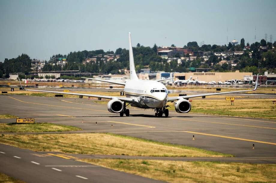 The U.S. Navy Blue Angels arrive at Boeing Field Monday, July 28, 2014, in Seattle, Wash. Photo: JORDAN STEAD, SEATTLEPI.COM / SEATTLEPI.COM