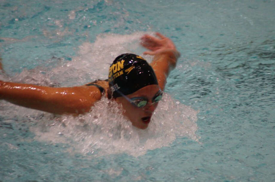 Staples High graduate Verity Abel (17:01.61) finished second in the 1,500 meter freestyle at the 2014 YMCA Long Course National Championships, held Monday in Indianapolis. Photo: Contributed Photo / Westport News Contributed