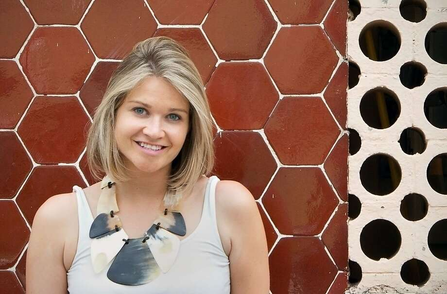 "Designer Alison Damonte collaborated with S.F. fiber artist and textile designer Ealish Wilson. Wilson's, ""Kimono,"" was the inspiration for Damonte's installation. Photo: Bruce Damonte"