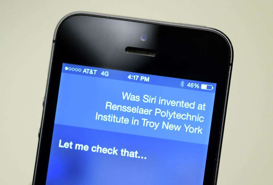Apple's Siri is asked if it was created at Rensselaer Polytechnic Institute Monday afternoon, July 28, 2014, at the Times Union in Colonie, N.Y. RPI's lawsuit against Apple over Siri took interesting turn after the company that owned the patent's rights was sold to a public company.(Will Waldron/Times Union) Photo: WW