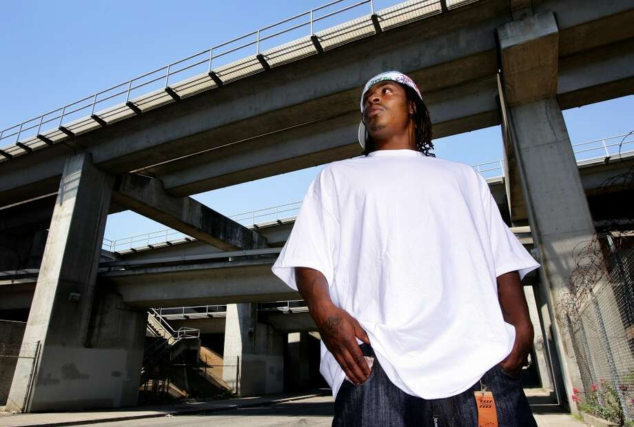 """Born April 22, 1986, Marshawn Lynch grew up in inner-city Oakland, where he played football at Oakland Technical High School. It was during his prep years that his mother, Delisa Lynch, began giving him """"power pills"""" -- or Skittles -- during games to keep his stomach settled. An All-American in high school, Rivals.com rated him the No. 2 high-school running back behind Adrian Peterson. Photo: Jonathan Ferrey, Getty Images"""