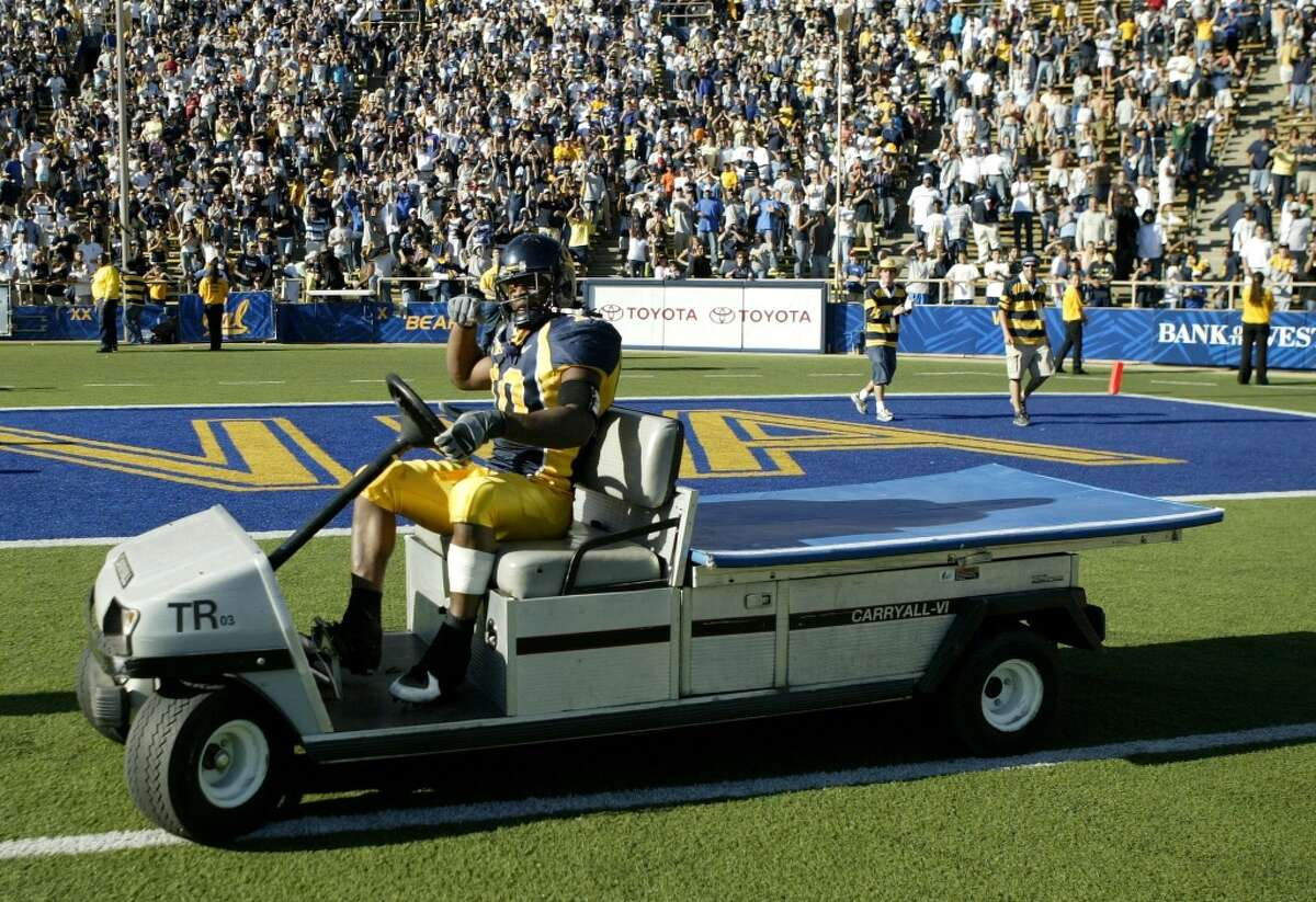 Lynch has always been quite the character. In 2006, his junior and final year at Cal, he celebrated an overtime victory over the Washington Huskies by driving an injury cart around the field (YouTube video). In three seasons with the Golden Bears, Lynch became the school's second-all-time career rusher, and was named Pac-10 Offensive Player of the Year in 2006.
