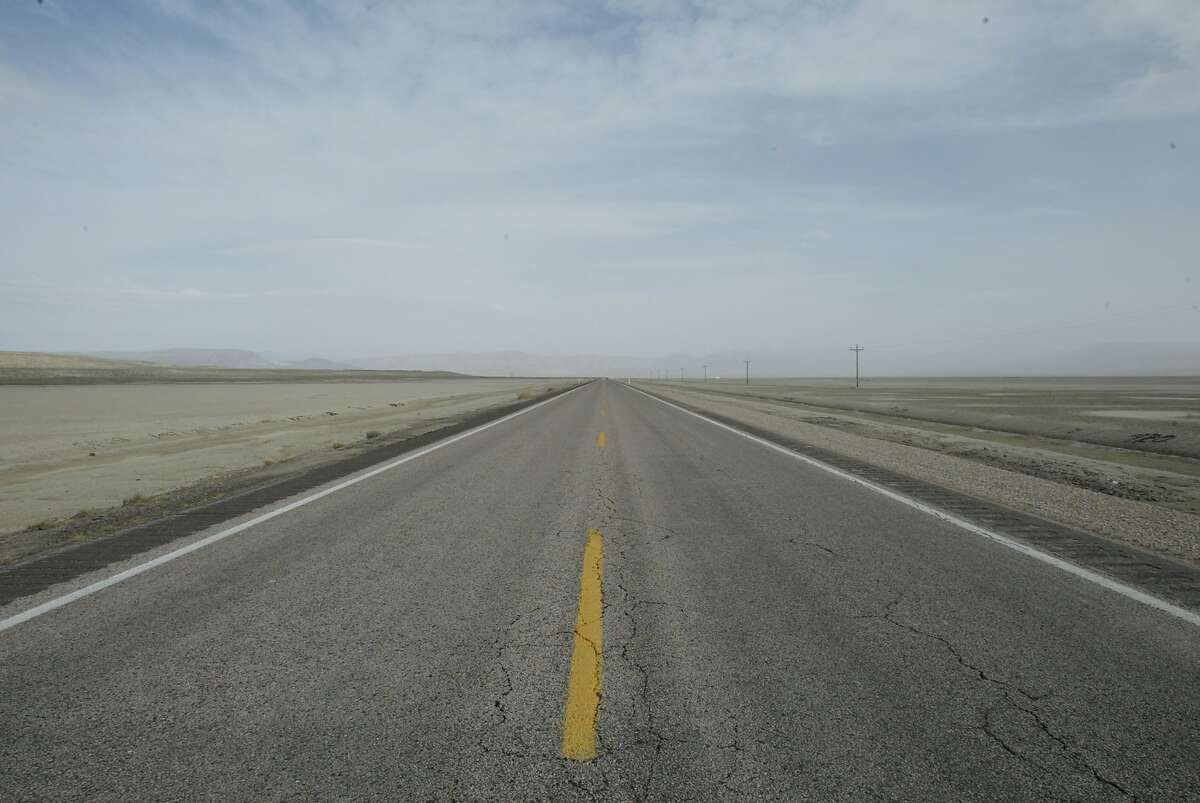 """Highway 50 in Nevada is known as the """"Loneliest Road in America"""". This is near Middlegate."""