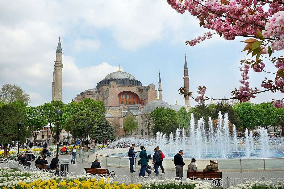 Built in the early sixth century on a grand scale, the Hagia Sophia was later converted into a mosque. Photo: Rick Steves