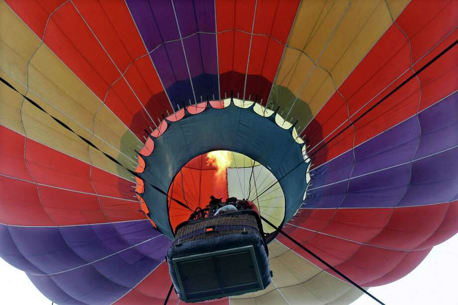 A hot air balloon is seen at the 32nd annual OuickChek New Jersey Festival of Ballooning Sunday, July 27, 2014, in Readington, N.J. Photo: Mel Evans, Associated Press / AP