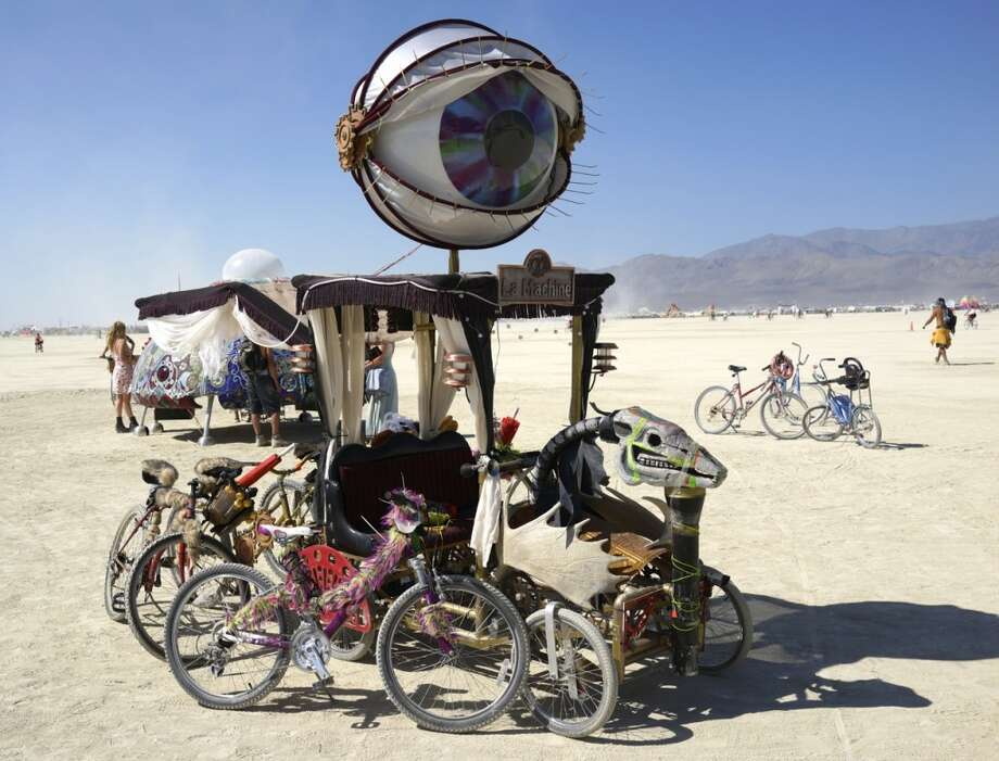 One of roughly 1000 cars like this, prowling and scurrying, lurching and lolling around the playa day and night.