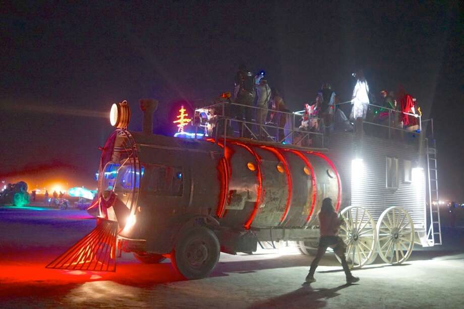 Amazingly, art cars like this one become almost normal, commonplace, pedestrian after a couple nights on the playa. Which is sort of absurd to say, but which is also a testament to just how ridiculous the place is.