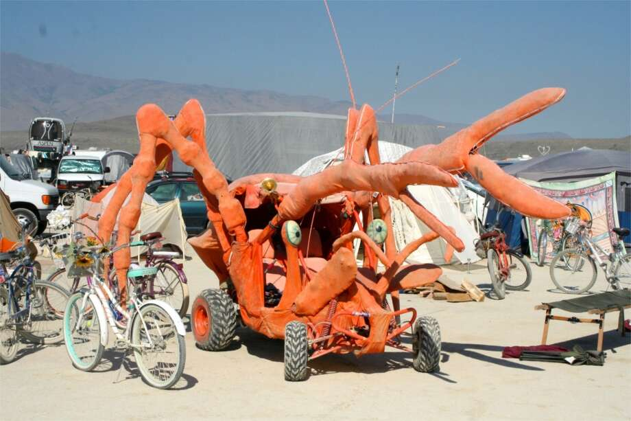 Burning Man themes come and go, crowds change and surge, but random wacky stuff like this persists. Little beasts like this have been scurrying across the playa for 20 years.