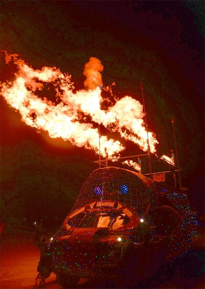Here's the two words you say to describe/explain most flamethrowing art cars on the playa: *Just because.* Or perhaps *Why not?*