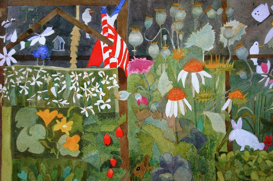 "Artist Beatrice del Perugia's ""Corner of My Garden,"" will be one of the works on exhibit in a three-artist show at the Fairfield Library's Kershner Gallery, starting Aug. 16. Photo: Contributed Photo / Fairfield Citizen"
