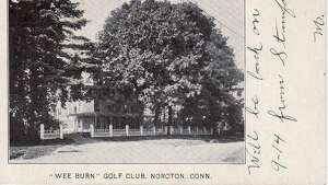 """The original Wee Burn golf club, which was opened in the late 1800s. The name is said to have come from the Scottish term for """"little stream."""""""