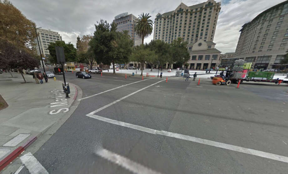 A man was stabbed to death near Market and Park Ave. in San Jose, CA early Tuesday morning. Photo: Google Maps