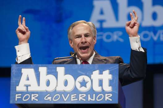 Texas Attorney General and Republican gubernatorial nominee Greg Abbott delivered what he called his Bicentennial Blueprint to the delegates of the Texas GOP Convention in Fort Worth, Texas Friday June 6, 2014..(AP Photo/Rex C. Curry) Photo: Rex C. Curry, Associated Press