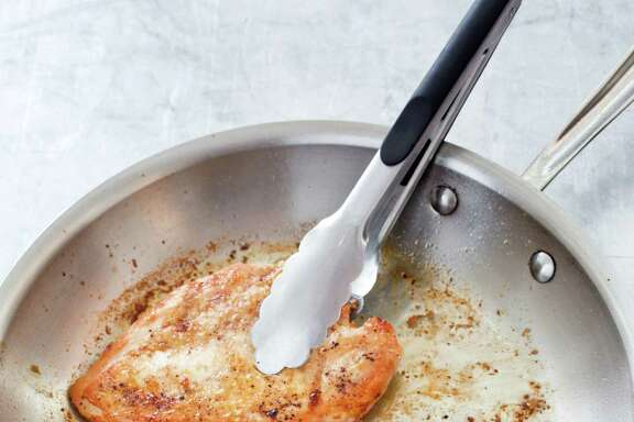 Crispy-Skinned Chicken Breasts with Vinegar-Pepper Pan Sauce from  America s Test Kitchen.
