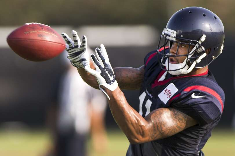 Day 4: July 29   Texans wide receiver DeVier Posey reaches out to c