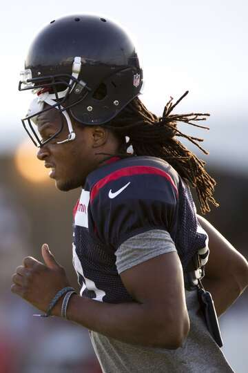 Day 4: July 29   Wide receiver DeAndre Hopkins jogs onto the practi