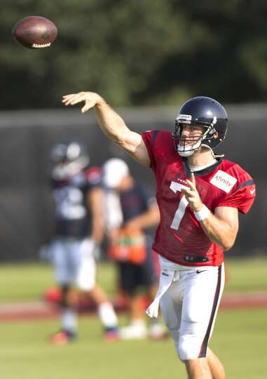 Day 4: July 29   Texans quarterback Case Keenum throws a pass.