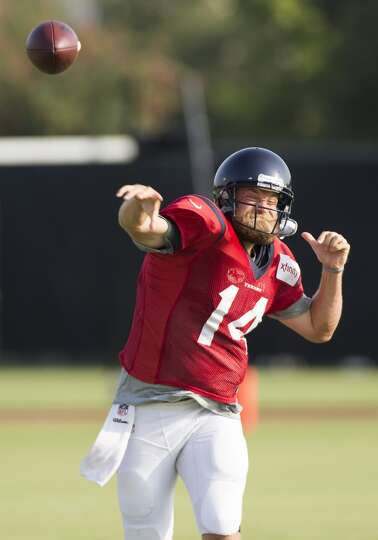 Day 4: July 29   Texans quarterback Ryan Fitzpatrick throws a pass.