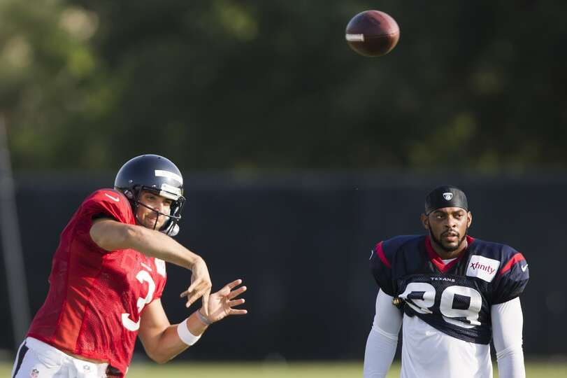 Day 4: July 29   Texans quarterback Tom Savage (3) throws a pass as
