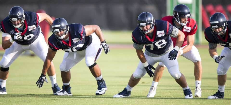 Day 4: July 29   Texans tackle Tyson Clabo (69), guard Xavier Su'a-