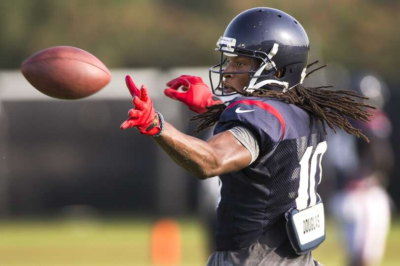 Day 4: July 29   Wide receiver DeAndre Hopkins reaches out to make