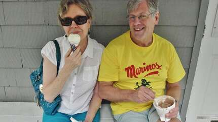 "These loyal customers travel to Dr. Mike's from Stamford every summer because ""it just wouldn't be summer without Dr. Mike's."" On July 29, 2014 they enjoyed chocolate malt and peach flavored ice cream."