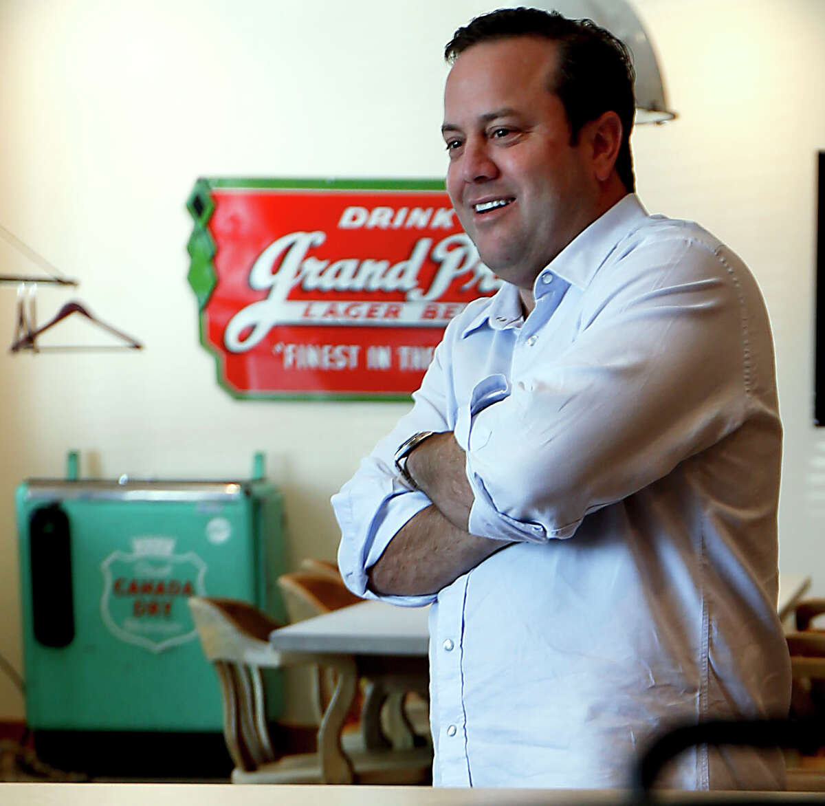 Goode Co. President Levi Goode in the company's test kitchen Wednesday, July 23, 2014, in Stafford. ( James Nielsen / Houston Chronicle )