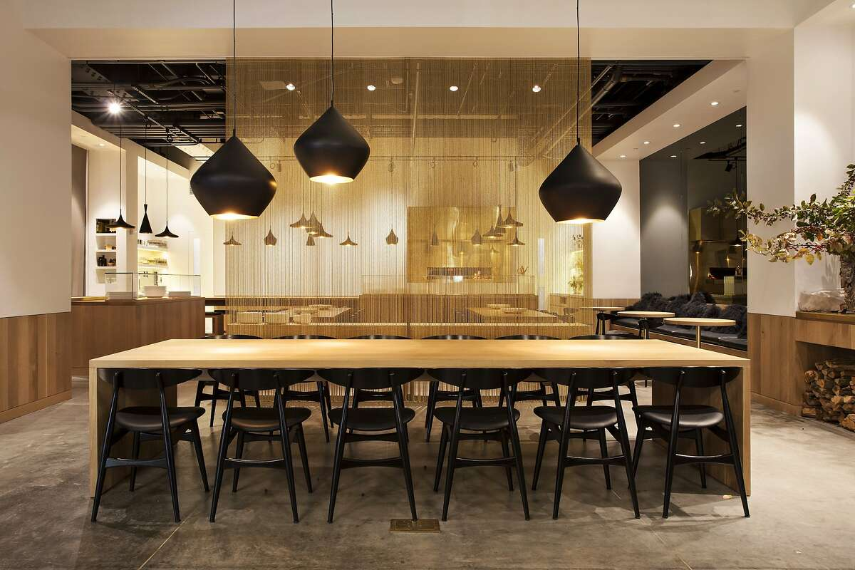 Bouli Bar, a Grant Gibson favorite: ?'I adore the various undulating pendant lights here.?