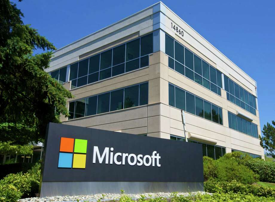 A building on the Microsoft Headquarters campus is pictured July 17, 2014 in Redmond, Washington. Photo: Stephen Brashear, Getty Images / 2014 Getty Images