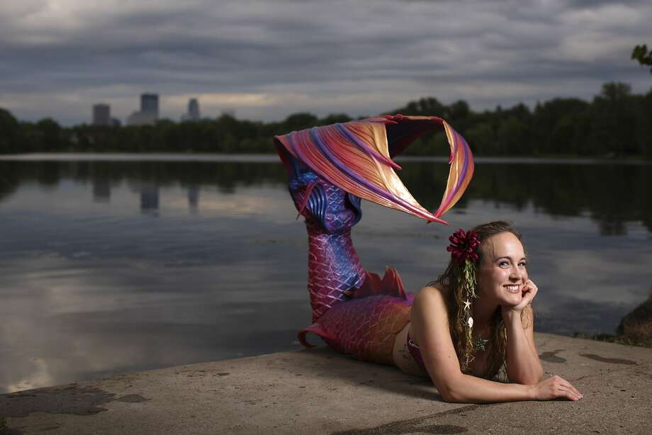 It's for a good cause: Allie Causin was able to purchase her mermaid tail from Finfolk Productions for this photo shoot on the shore of Lake of the Isles in Minneapolis. But many would-be mermaids cannot afford tails. So please give generously to the Make-A-Fish Foundation. Photo: Jeff Wheeler, McClatchy-Tribune News Service