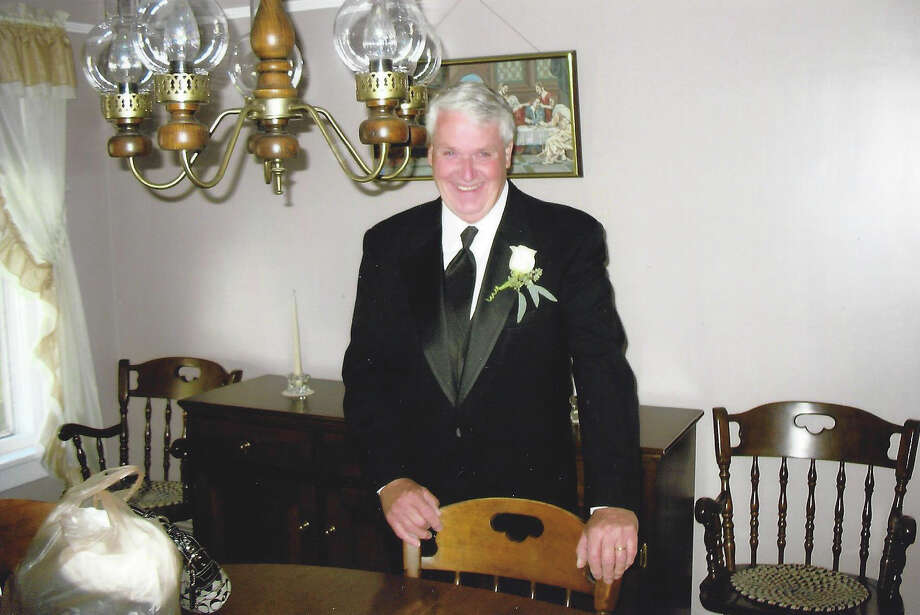 Benjamin Olmstead, 71, of Norwalk, at his daughter Lisa Weed's wedding. The 36-year veteran of the Department of Public Works in New Canaan, Conn., died Thursday, July 24, 2014, one day after he was hit by a car while spray painting a road. Photo: Contributed Photo, Contributed / New Canaan News Contributed