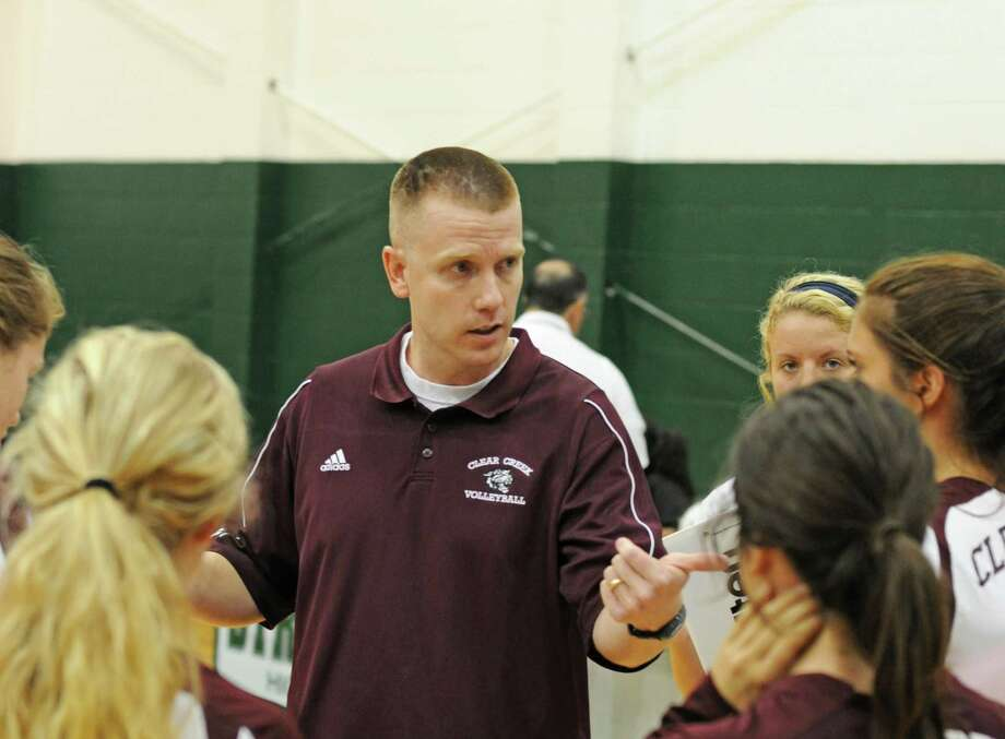 Clear Creek volleyball coach Scott Simonds says he doesn't care where the UIL State Tournament is played. The UIL moved the 2012 state event from San Marcos to Garland. Photo: L. Scott Hainline / The Chronicle