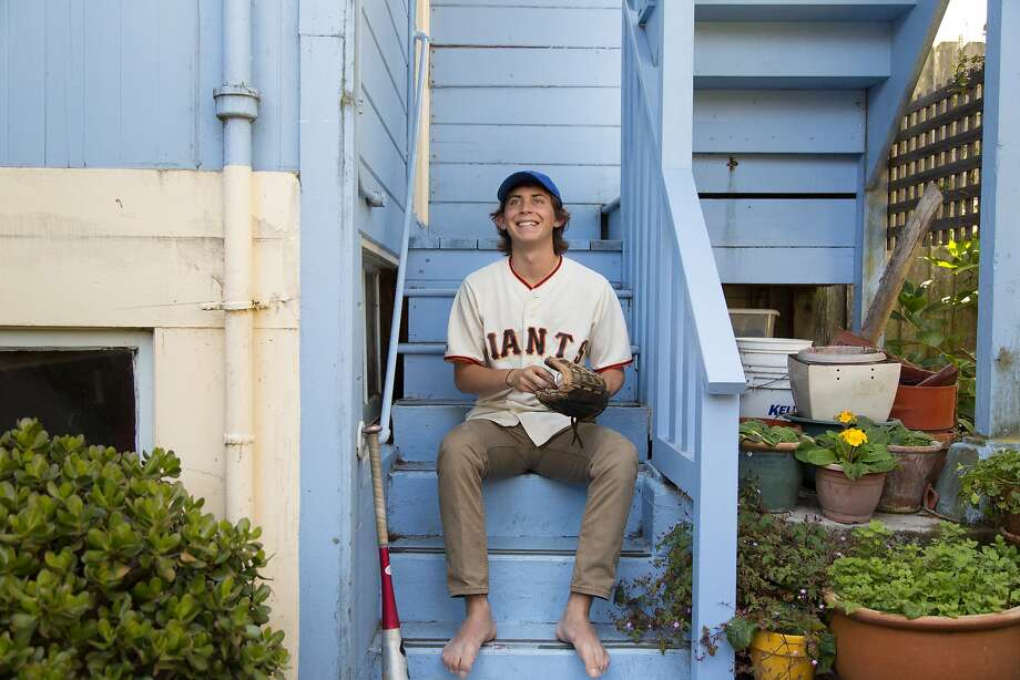 Mica Jarmel-Schneider, now 18, whose gift of baseball equipment to poor kids in Cuba became a movie, at his home in S.F. Photo: Jason Henry, Special To The Chronicle