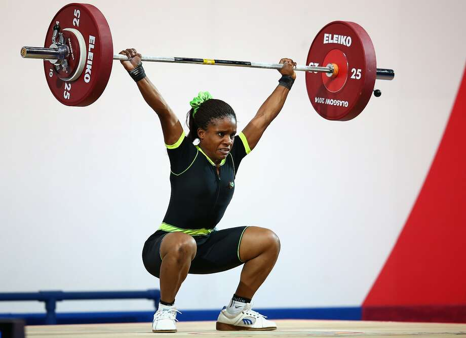 Nigerian Chika Amalaha, a 16-year-old weightlifter, failed a drug test and was suspended from the Commonwealth Games. Photo: Julian Finney, Getty Images