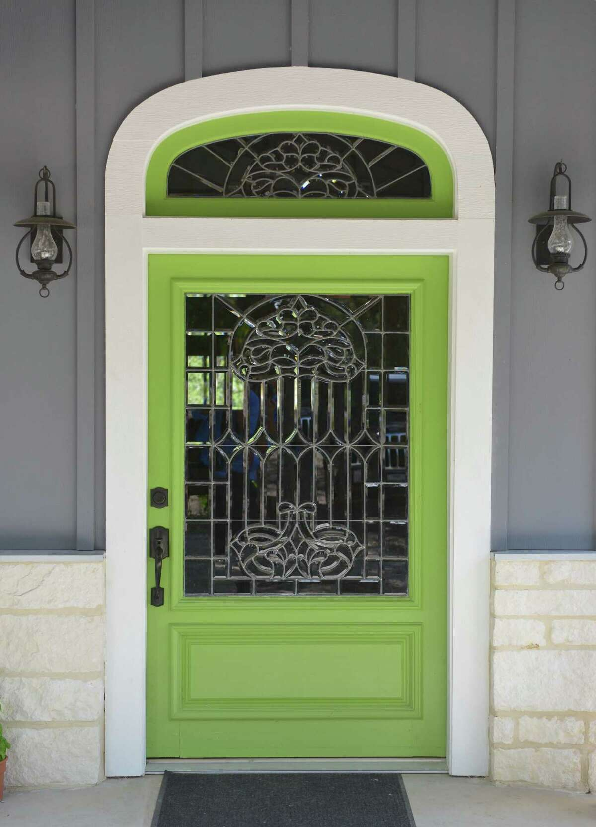 Tricia and Jeff Zunker found their front door at a salvage company and had the leaded glass in it restored.