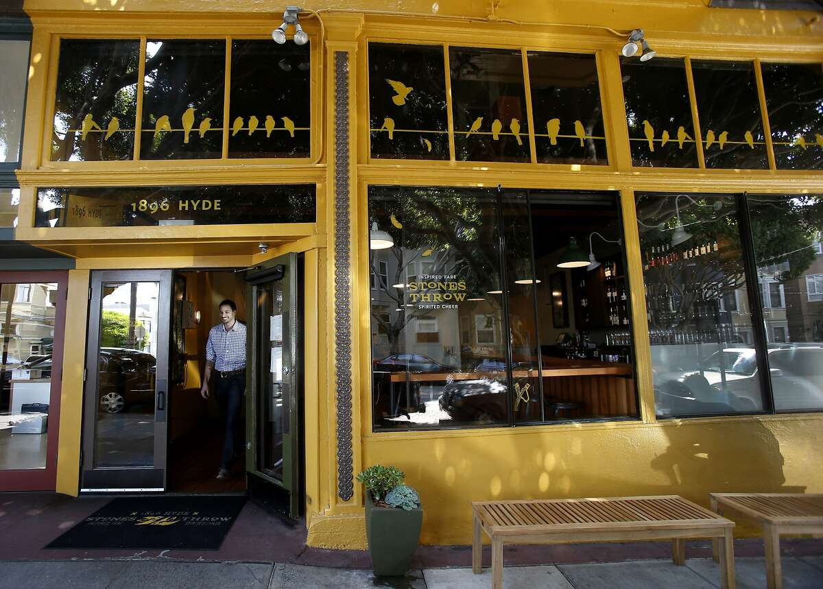 Stones Throw has been open about eight months on Hyde Street in San Francisco, Calif. Restaurant owner Ryan Cole is concerned about the growing number of reservation apps that charge customers and are circling the city's hottest restaurants such as his on Russian Hill called Stones Throw.