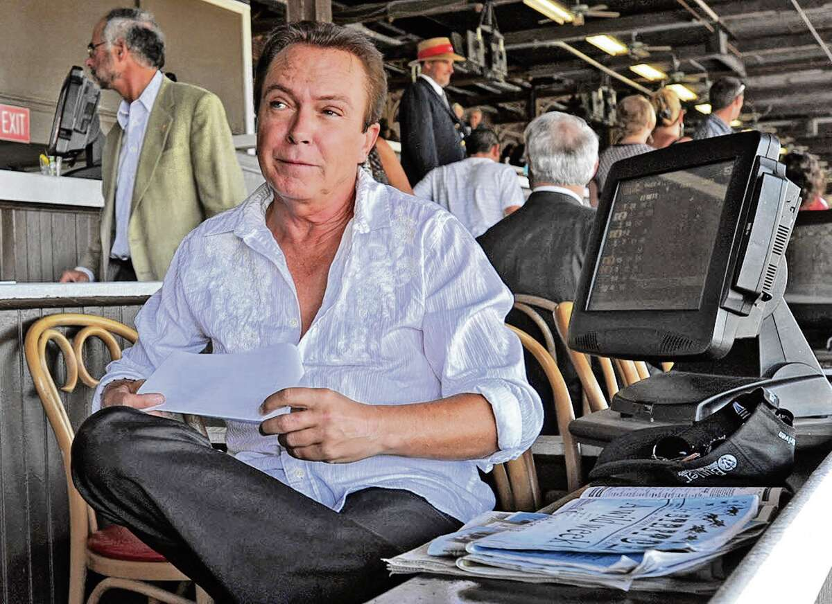 Actor/singer David Cassidy sits in the clubhouse at the Saratoga Race Course in Saratoga Springs, NY on July 26, 2010. (Lori Van Buren / Times Union archive)