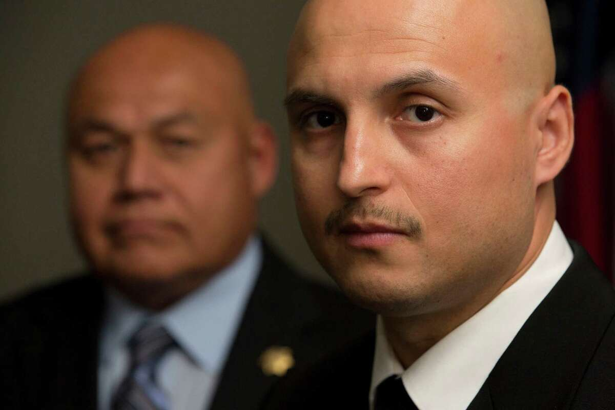"""""""If this was my family, I'd want these guys on the case,"""" their lieutenant says of Sgt. Felipe Rivera, left, and Sheriff's Deputy Abraham Alanis."""