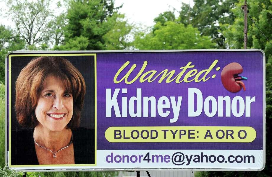 Billboard of Myrna Bernstein on Central Avenue on Tuesday, July 29, 2014, in Colonie, N.Y. (Cindy Schultz / Times Union) Photo: Cindy Schultz / 00027982A