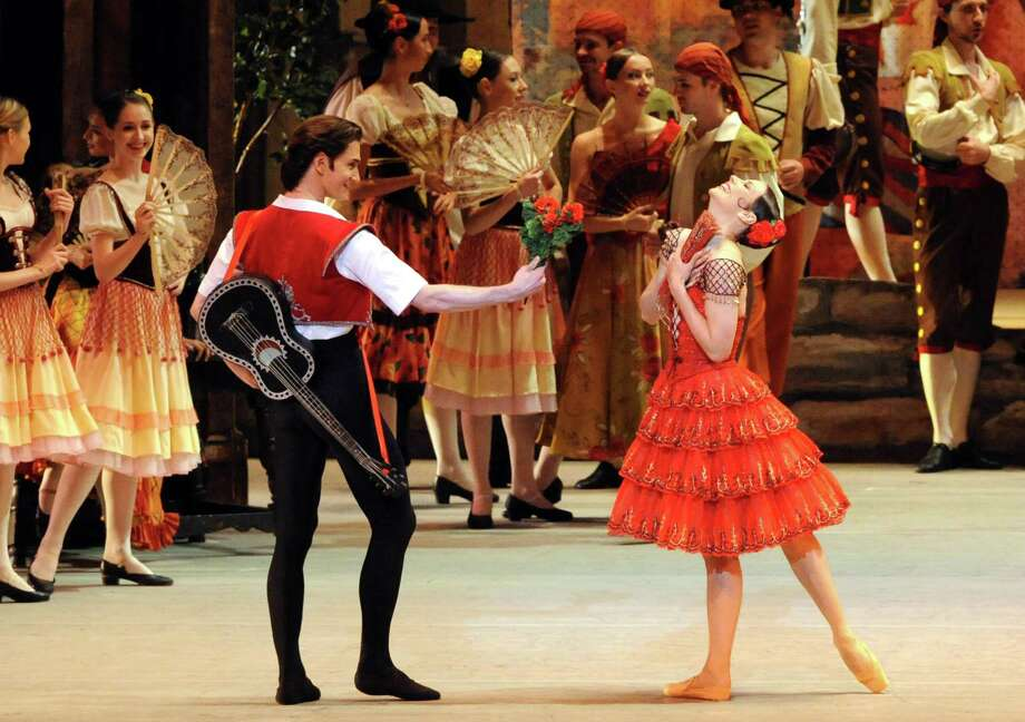 The Bolshoi Ballet Company performs Don Quixote at SPAC on Tuesday July 29, 2014 in Saratoga Springs, N.Y.  (Michael P. Farrell/Times Union) Photo: Michael P. Farrell / 00027848A