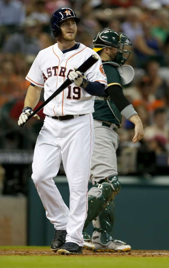 July 29: A's 7, Astros 4The Astros let a three-run lead slip away in the ninth inning as the A's roared back to tie the series by stealing the second game of the three-game set in Houston.  Record: 43-64. Photo: Karen Warren, Houston Chronicle