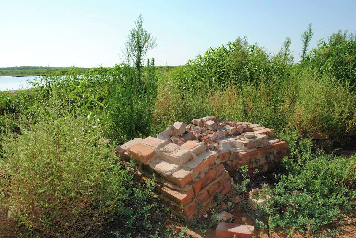 A long-forgotten town has resurfaced under Lake Arrowhead in Wichita Falls. Here is part of the chimney at the Halsell school house, on the east side of Lake Arrowhead. The town was abandoned and taken by eminent domain when the lake was built in 1965.Click through the slideshow above to see what's left of the town and other lakes that have hidden communities.