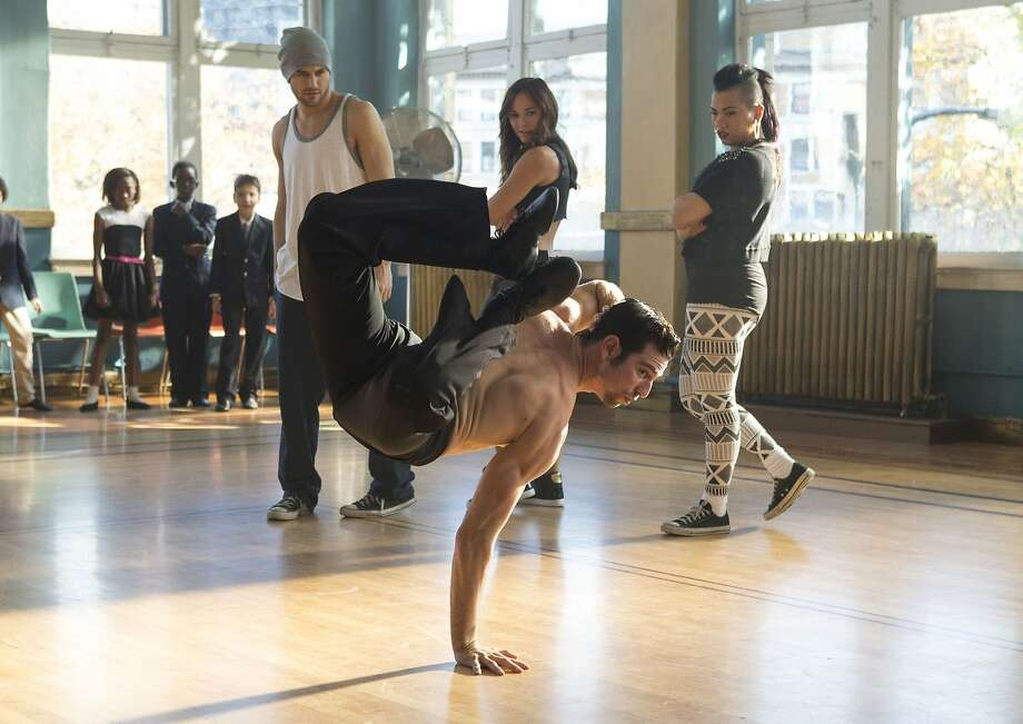 "Ryan Guzman (back left), Briana Evigan, Parris Goebel and Christopher Scott (front) star in ""Step Up: All In."" Photo: James Dittger, Summit Entertainment"