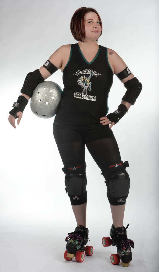 The Spindletop Roller girl's Stephanie Colwell. (Raevyn Ram-Paige) Photo taken Wednesday, March 12, 2014 Guiseppe Barranco/@spotnewsshooter Photo: Guiseppe Barranco, Photo Editor