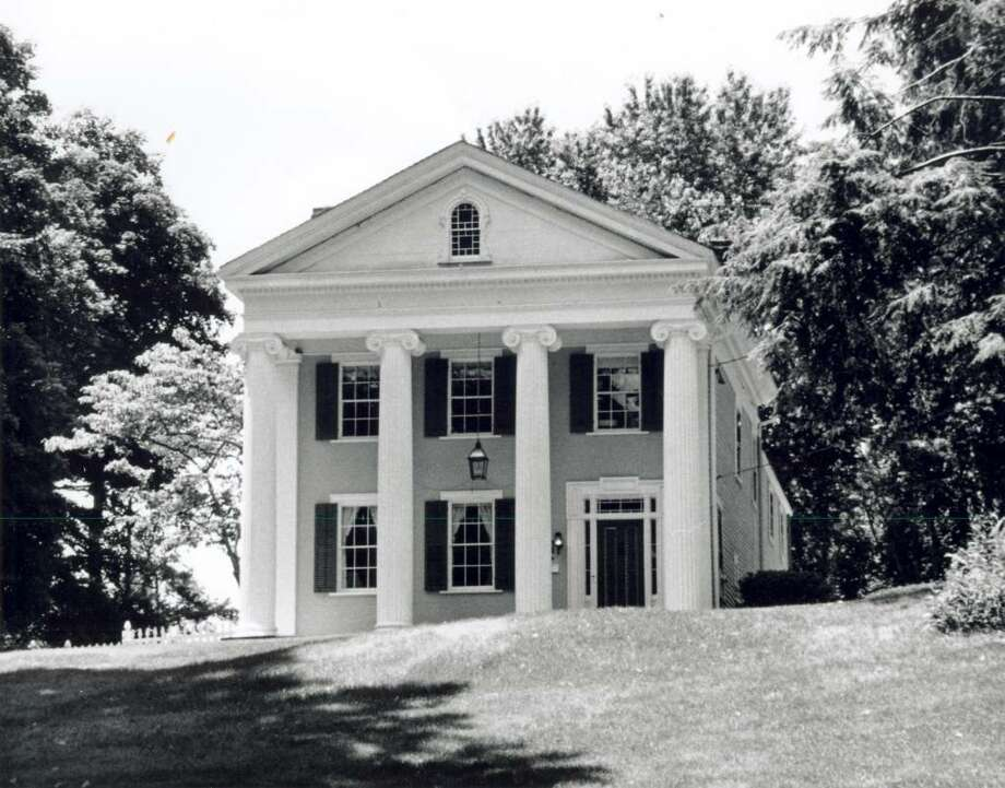 This photo, provided by the Greenwich Historical Society, shows the historical Josiah Wilcox house, a Greek Revival house, on Riversville Road. It was built in 1838. Photo: Contributed Photo / Greenwich Time Contributed