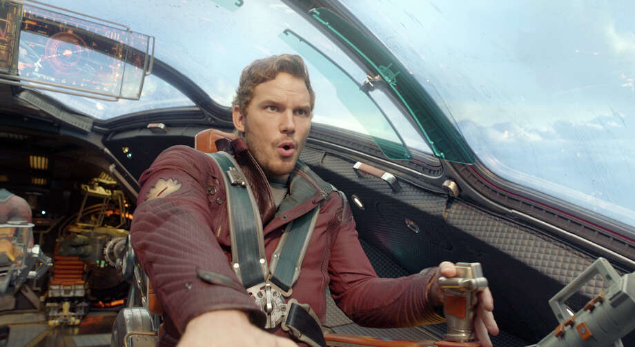 """This image released by Disney - Marvel shows Chris Pratt in a scene from """"Guardians Of The Galaxy."""" (AP Photo/Disney - Marvel) ORG XMIT: NYET104 / Disney - Marvel"""