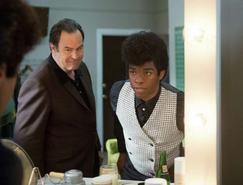"This image released by Universal Pictures shows Chadwick Boseman, right, and Dan Aykroyd in a scene from ""Get On Up."" (AP Photo/Universal Pictures) ORG XMIT: NYET116 Photo: D Stevens / Universal Pictures"