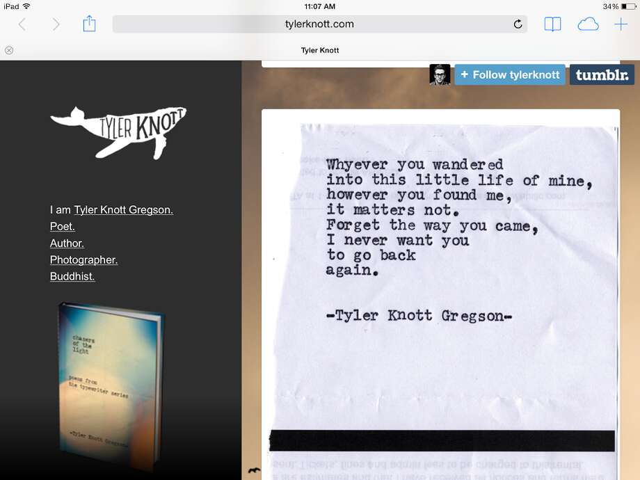 Screenshot of tylerknott.com.