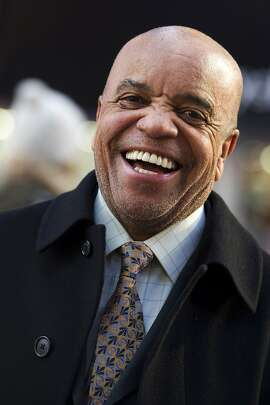 "This March 5, 2013 photo shows Berry Gordy posing for a portrait in New York.  For Berry Gordy, conquering Broadway is the next - and by his own admission, last - major milestone of a magical, musical career. The 83-year-old Motown Records founder is taking his story and that of his legendary label to the Great White Way. ""Motown: The Musical,"" opens for previews Monday. (Photo by Charles Sykes/Invision/AP)"